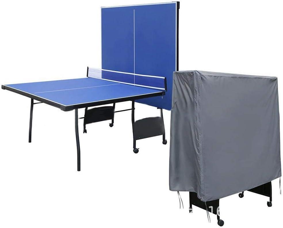 Cubierta para tenis de mesa, impermeable resistente a los rayos UV, PVC para exteriores, con parte trasera especialmente diseñada,ventilación superior integrada que permite, 155*75*155cm