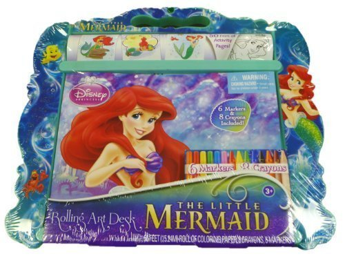 Disney Princess The Little Mermaid Rolling Art Desk By