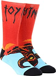 Toy Machine Skateboards Welcome to Hell Monster Red / Blue Crew Socks - One size fits most
