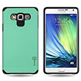 Samsung Galaxy A7 Case, Protective Dual Layer Hybrid [CoverON Slim Guard Series] Full Body Thin Impact Shield [Tough Shockproof Armor Design] Phone Cover for Samsung Galaxy A7 2015 A700 - Mint Teal