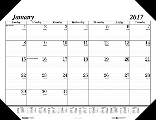 "House of Doolittle 2017 Monthly Desk Pad Calendar, Economy, 18 x 13"" (HOD012402-17)"