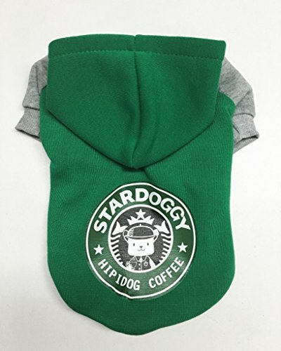 FitPetX Small-size Terriers Lovely Pets Clothes with a Hat Clothes(Green,L) (Dog Boutique Online)
