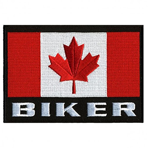 Hot Leathers, CANADIAN BIKER FLAG, High Thread Embroidered Iron-On / Saw-On Rayon PATCH - 5