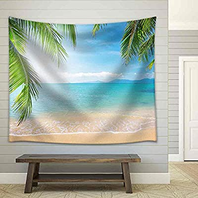 Palm and Tropical Beach Fabric Wall, Created Just For You, Lovely Style