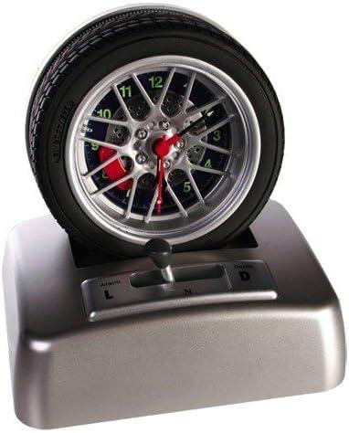 SPINNING cilindro de neumático reloj despertador en forma de cubo ...