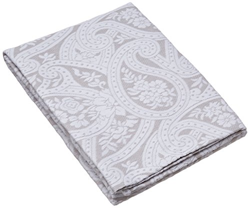 Belle Epoque Kashmir Paisley Pillow Sham, Grey/White, King