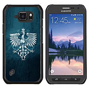 LECELL--Funda protectora / Cubierta / Piel For Samsung Galaxy S6Active Active G890A -- Royal Eagle Crest --