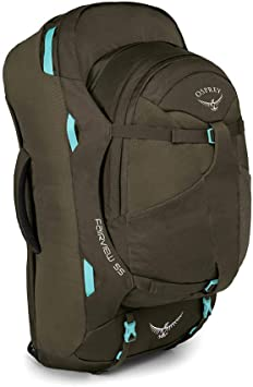 Osprey Fairview 55 Womens Travel Pack with 13L Detachable Daypack ...
