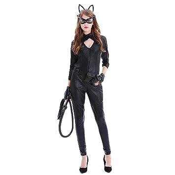 OLKWG La Fiesta De Disfraces Catwoman De Cuero De La PU Se Viste ...