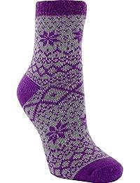 Women's Cozy Cabin Socks Purple/Grey