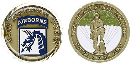 US Army Fort Bragg 18th Airborne Corps Challenge Coin by Military Productions (Military Fort)