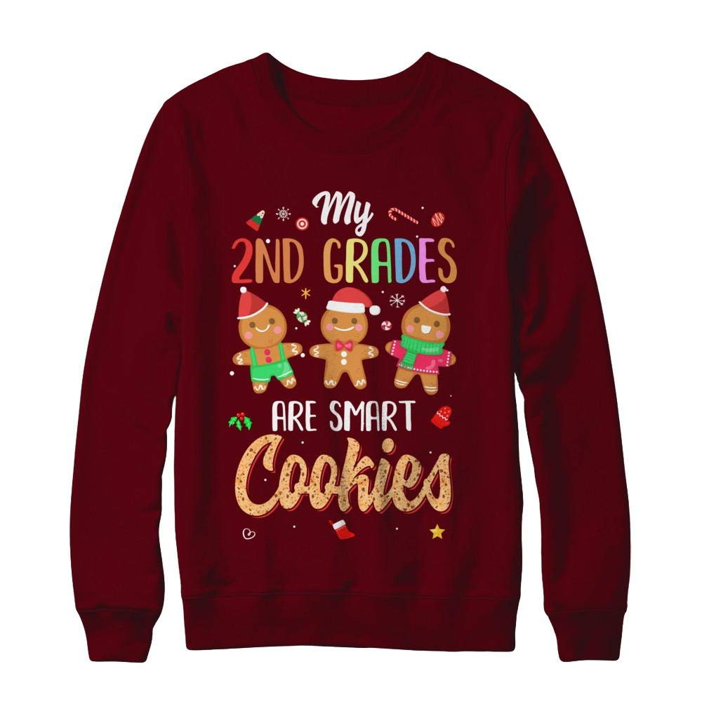 Tea My 2nd Graders Are Smart Cookies Christmas Shirt