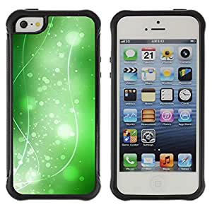 "Hypernova Defender Series TPU protection Cas Case Coque pour Apple iPhone SE / iPhone 5 / iPhone 5S [Naturaleza Hermosa Forrest Verde 36""]"