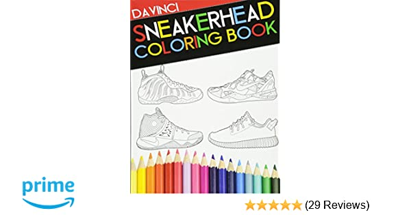71d4f420d742 Sneakerhead Coloring book  Davinci  9780692733189  Amazon.com  Books