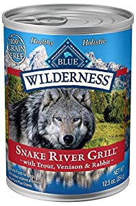 BLUE Wilderness Grain-Free Snake River Grill with Trout, Venison & Rabbit Wet Dog Food 12.5-oz (pack of 12)