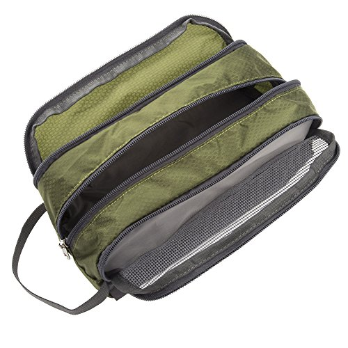 Shower Bag, Yeiotsy Travel Toiletry Organizer Small Toiletry Bag Unisex Gym Bag (Army Green) by Yeiotsy (Image #4)