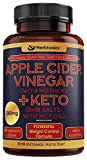 5X Potent Apple Cider Vinegar Capsules with Mother + BHB Salts Keto Diet Pills with MCT Oil, Fat Burner and Weight Loss Supplement Formula Keto for Women Men Appetite suppressant ACV Detox Support