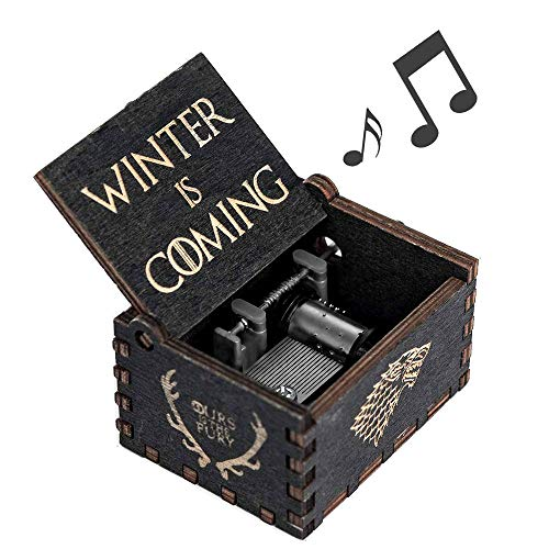 Cerekony Game-Thrones Music Box Merchandise, Inspired Hand Crank Collection Figures Dragon GOT Black