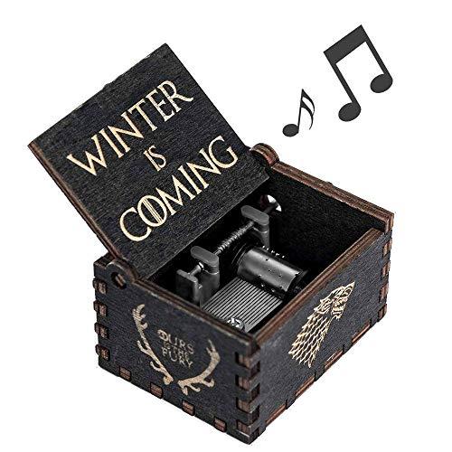 - Cerekony Game-Thrones Music Box Merchandise, Inspired Hand Crank Collection Figures Dragon GOT Black