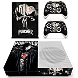 marvel skin decal - Vanknight Xbox One S Slim (XB1 S) Console 2 Controllers Remote Skin Set Vinyl Skin Decals Stickers Covers Wrap for XB1 S Skull