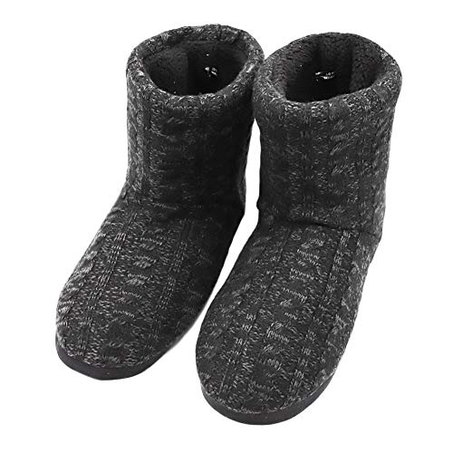 wholesale Women's Faux Fur Lined Knit Anti-Slip Indoor Slippers Boots Soft Cozy Memory Foam Midcalf Booties hot sale