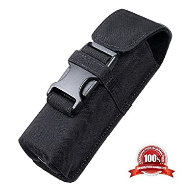 Weltool Tactical Molle Flashlight Holster CORDURA Material Holder with UTX-DURAFLEX Buckle Multi-Use Flashlight Knive Tool Pouch for Fenix PD35 PD35TAC, Surefire LX2 6P, Streamlight STRION TL-2