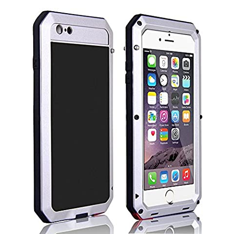 CarterLily Shockproof Dustproof Water Resistant Aluminum Armor Full-body Protection Case for iPhone 6 Plus / iPhone 6S Plus (Iphone 6 Plus Military Metal Case)