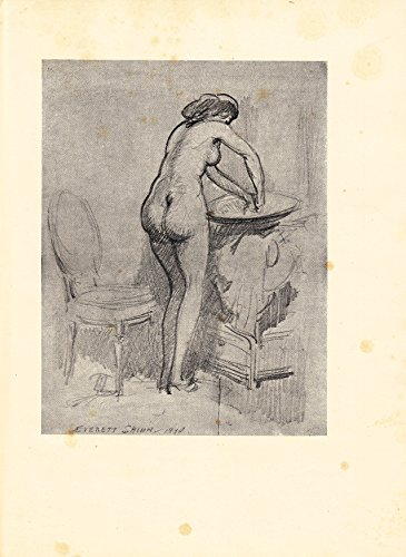 Standing Female Nude at Wash Basin - 1947 Photogravure