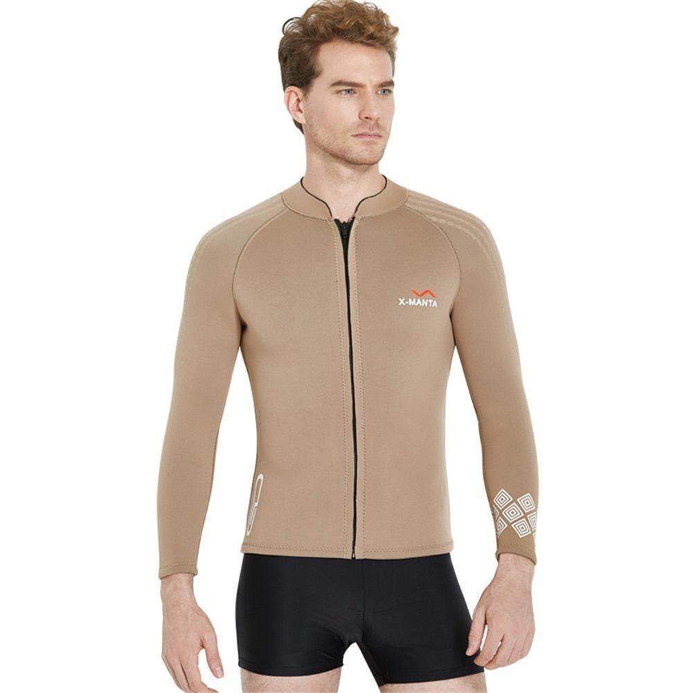 Taucheranzug Jacke 3MM Tauchen Neopren hohe Elastizit/ät Stoff Schwimmen Surfen /& Schnorcheln Anzug halten warme Top lange /Ärmel Rashguard Custome