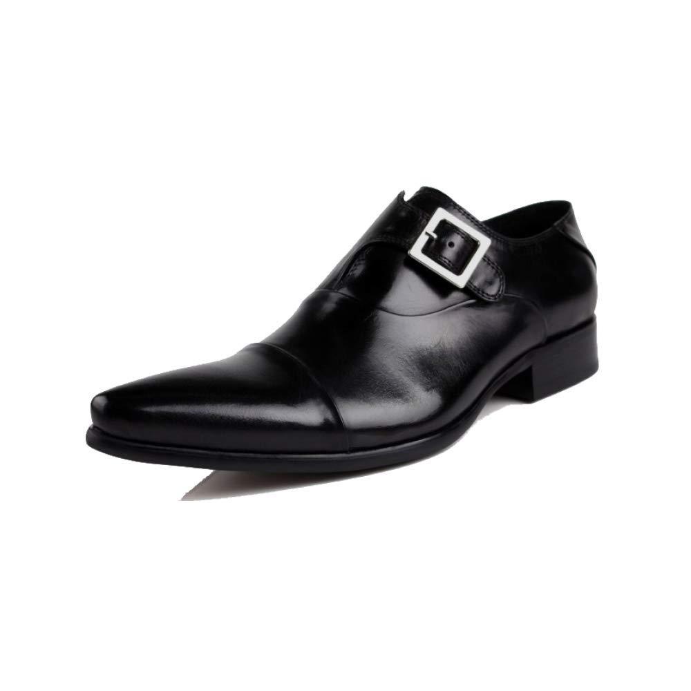 Männer, Lederschuhe, Europäische Version, Business, Faule Lässig, Britisch, Spitz, Schnalle, Faule Business, Schuhe schwarz 7e5300