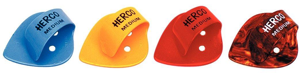colori assortiti Dunlop DL FTP 0045/He 112/Herco Flat Thumb Picks 24/pz