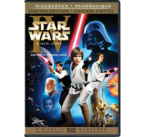 Star Wars Episode Iv A New Hope Widescreen Limited Edition Bilingual Amazon Ca Mark Hamill Harrison Ford Carrie Fisher Alec Guinness Peter Cushing Anthony Daniels Kenny Baker Peter Mayhew David Prowse Phil Brown