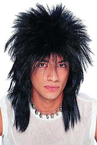 Punk Rocker Black Unisex Wig -