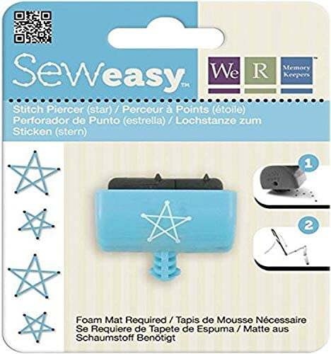WRMK Sew Easy STARS Large STITCH PIERCER ATTACHMENT scrapbooking crafts sewing