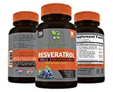 Organic Resveratrol Supplement 1600mg Max Strength for Anti-aging amp Radiant Skin Organic Green Tea Extract Grape Seed Extract Acai Fruit Quercetin Red Wine Extract - 60 vegan capsules Discount