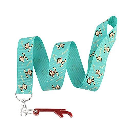 diy-lovely-monkey-birthday-keychain-keyring-key-chain-holder-lanyard-straps-with-mini-silver-steel-s