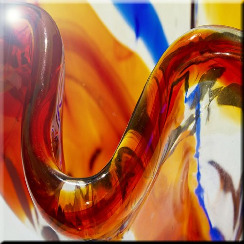 Rikki Knight 12 x 12 Brown Blown Glass Macro Design Ceramic Art Tile