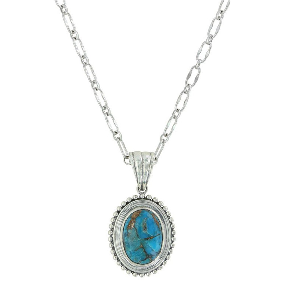 Montana Silversmiths Sterling Lane Women's Copper Earth Turquoise Necklace Silver