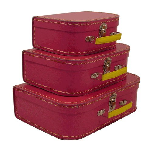 Resource International 8943900 kidSTYLE Euro Suitcases Pinkberry