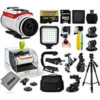 TomTom Bandit 4K Action Camera with 64GB Ultra Memory + LED Night Light + Handgrip + Floaty Bobber + Action Handle + Suction Cup + Large Padded Case + 60 Tripod + Bike Handlebar Mount + More
