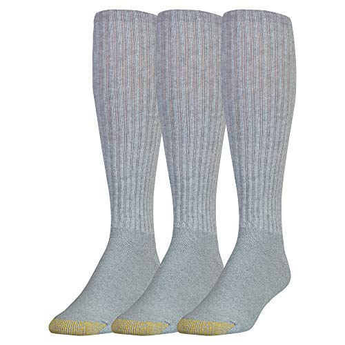 - Gold Toe Men's Ultra Tec Performance Over The Calf Athletic Socks, 3-Pack, grey heather, Shoe Size: 6-12.5
