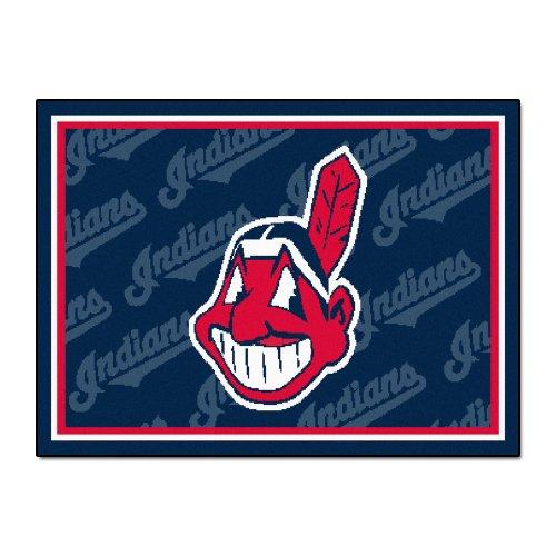 FANMATS MLB Cleveland Indians Nylon Face 5X8 Plush Rug