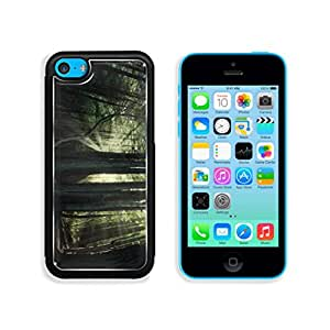 Mysterious Forest Sun Shining Lights Punktail's Collections Apple iPhone 5c Cover Premium Aluminum Design TPU Case Open Ports Customized Made to Order