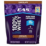 EAS 100% Chocolate Whey Protein Powder, 5 lbs. (pack of 6)