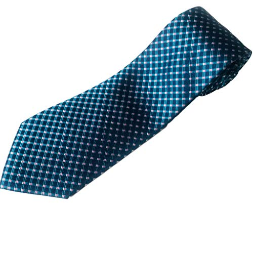 XL Tie for Big and Tall Men - 100% Silk - Diamond Weave Pattern - 63