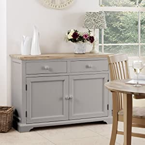 Florence Sideboard Solid Dove Grey Sideboard Kitchen