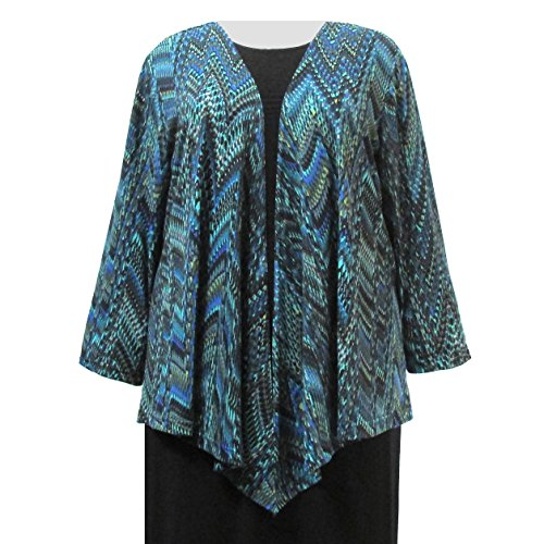 A Personal Touch Women's Plus Size Green Rain Forest Drape Cardigan Sweater - 6X
