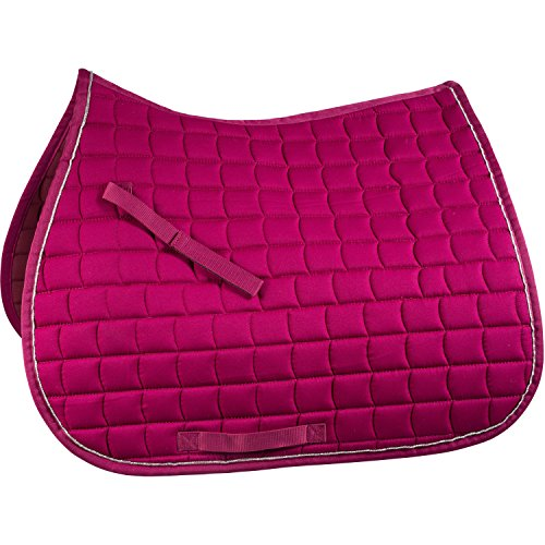 English Pony Tack - Horze All Purpose Saddle Pad, Boysenberry, Pony