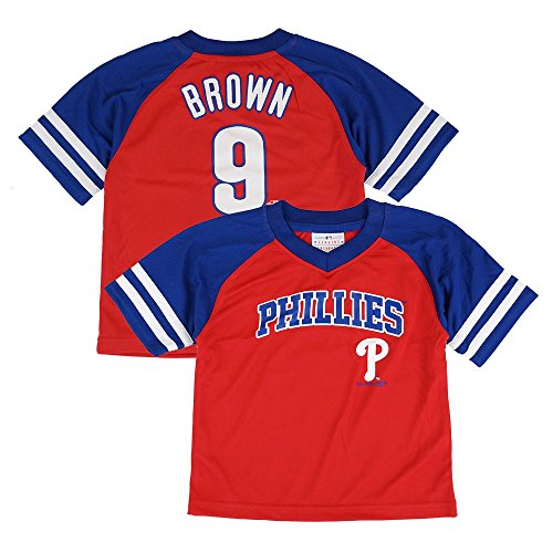 Outerstuff Domonic Brown MLB Philadelphia Phillies Jersey T-Shirt Infant Toddler ()