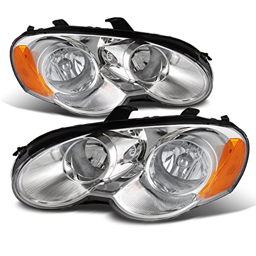 For Chrysler Sebring Coupe OE Replacement Chrome Bezel Headlights Driver/Passenger Head Lamps Pair New